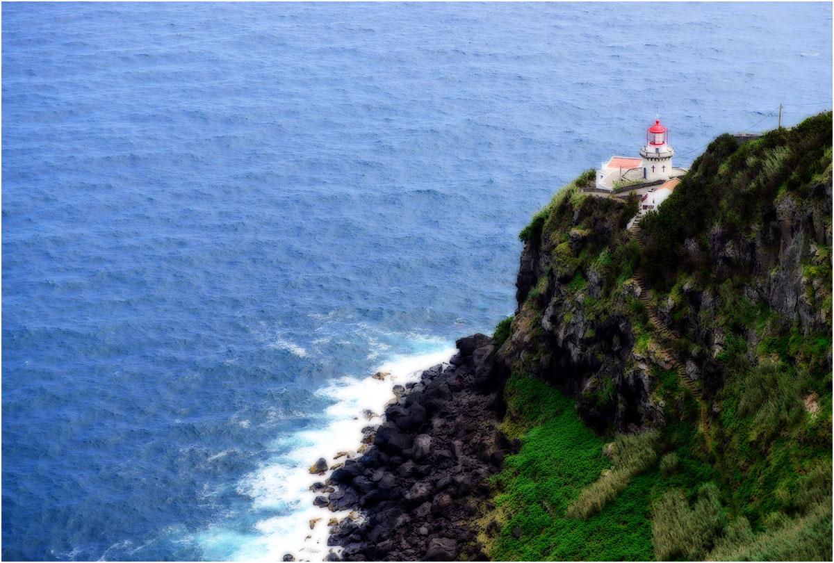 Faro do Arnel, Nordeste, Sao Miguel (Azoren, mei2014)