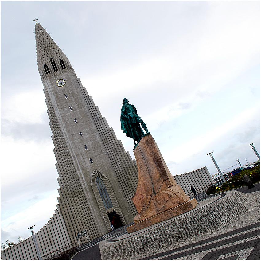 Hallgrímskirkja, Reykjavik (IJsland, mei 2016)