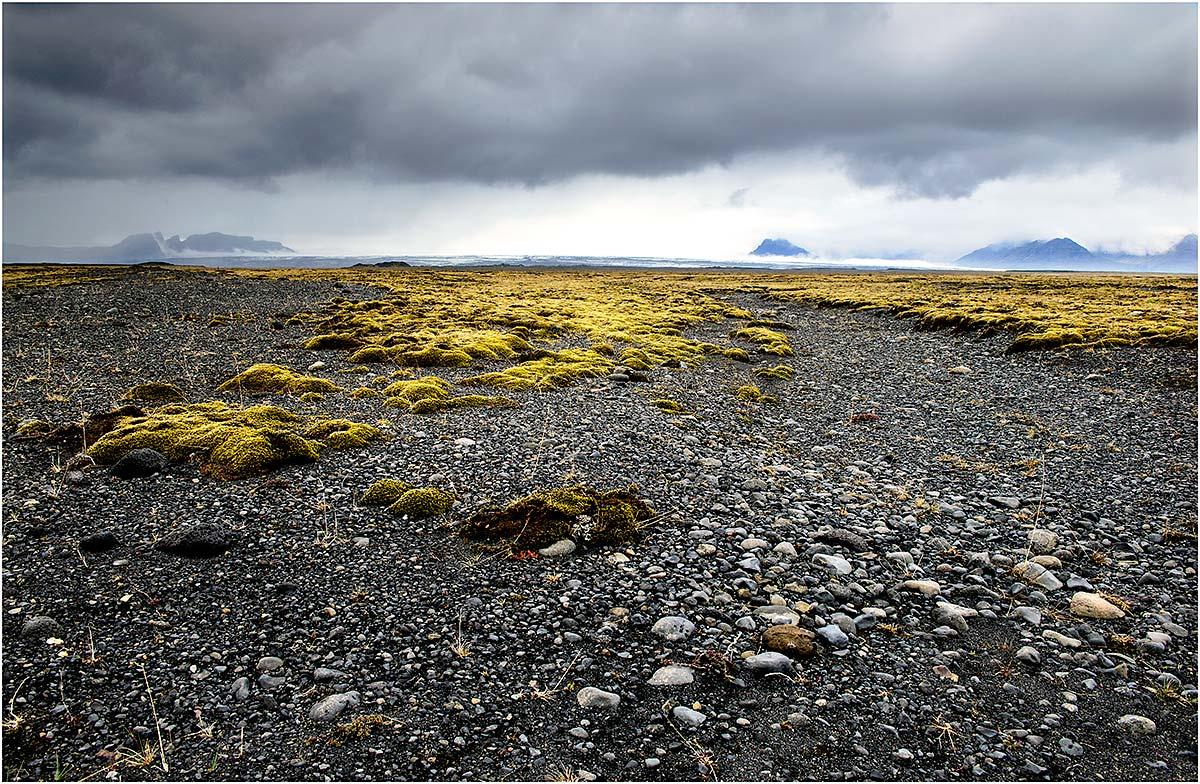 Lavavelden tussen Kirkjubæjarklaustur en Jökulsárlón (IJsland, mei 2016)