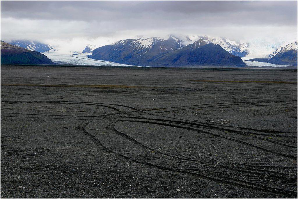 Enkele gletsjertongen van de Vatnajökull (IJsland, mei 2016)