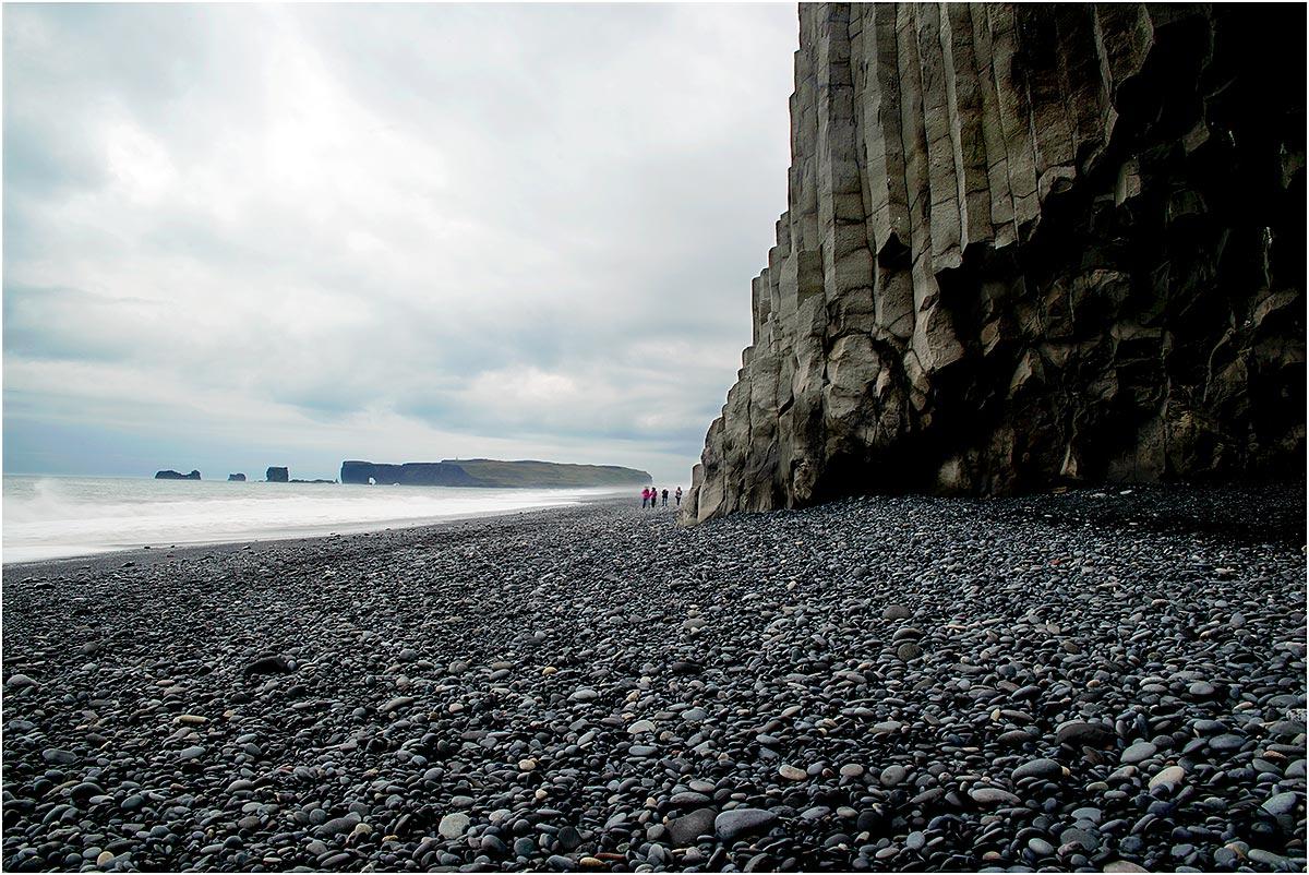 Hálsanefshellir Cave, Reynisfjara Beach, Vík í Mýrdal (IJsland, mei 2016)