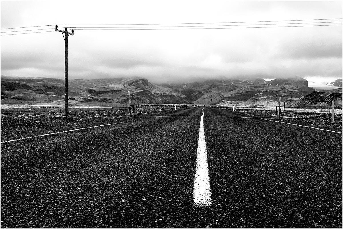 Sólheimajökullvegur (weg 221) (IJsland, mei 2016)