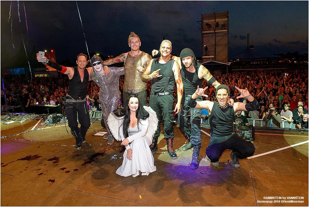 Rammstein by Vannstein, Backstage Huntenpop vrijdagavond 12-08-2016