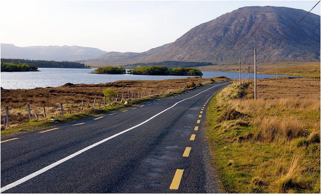 Road R344, Lough Inagh, Connemara, County Galway