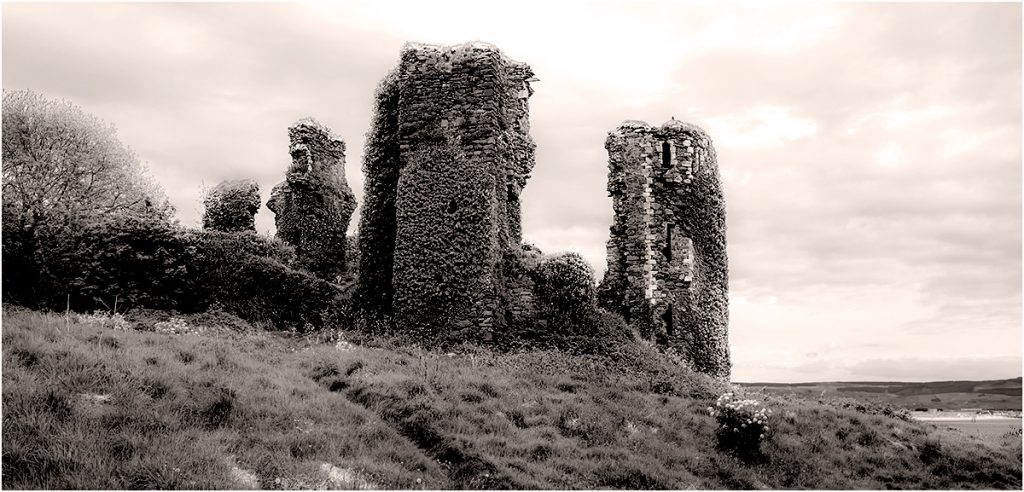 Northburg Castle in Greencastle, Inishowen, County Donegal