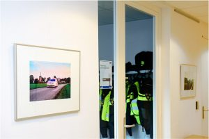 Politiebureau Doetinchem, gang achteruitingang en garderobe