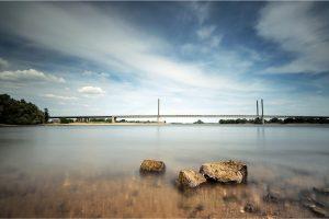 Rheinbrücke, aan de Rijn bij Rees (D) (3-6-2020) Nikon D750, ISO: 100; 30sec.; f/11; 16mm. [JU0_1112]