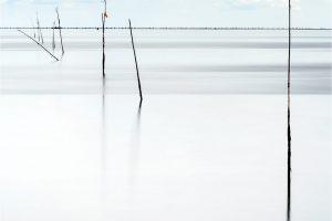 """Texel, vispalen in de Waddenzee bij de """"IJzeren Kaap"""" [TX0_0079www]"""