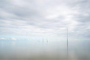 """Texel, vispalen in de Waddenzee bij de """"IJzeren Kaap"""" [TX0_0085www]"""