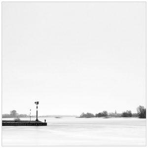 """""""Between 2 rivers"""", scheiding van Rhein en Grietherorter Altrhein bij Dornick (D)"""